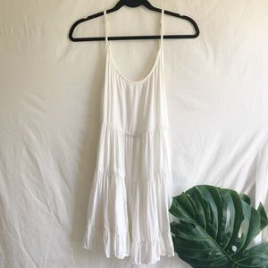 Brandy Melville White Slip Ruffle Dress